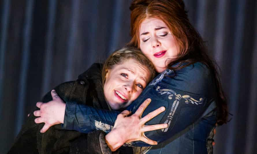'Magnificent': Jennifer Holloway, left, as Adalgisa with Marjorie Owens in the title role of Norma at the Coliseum.