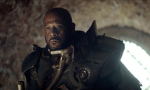 The differently coiffured Saw Gerrera who appears in the trailer