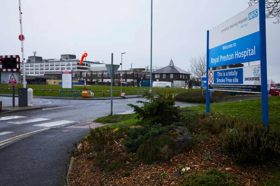 Royal Preston hospital in Lancashire