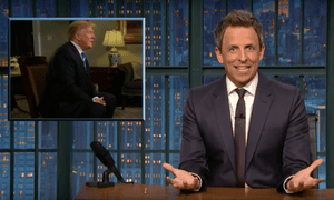 'Not only are Republicans looking to gut Medicare and Medicaid, their plan might even raise taxes on middle class Americans to pay for tax cuts for higher earners,' Seth Meyers said.