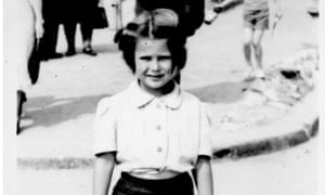 Angela Lynne, aged six, at Bridlington in the mid-1950s.