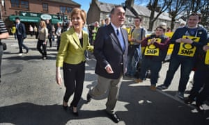 SNP Leader Nicola Sturgeon and Alex Salmond. SNP MPS are funding Salmond's legal challenge.
