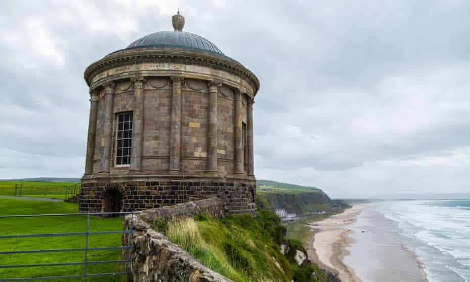 Mussenden Temple in Derry, Northern Ireland.