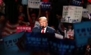 Donald Trump campaigns in Michigan.