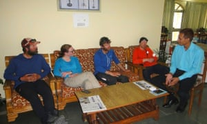 Rescued mountaineers (left to right) Zachary Quai, Ian Wade, Kate Armstrong and Mark Thomas