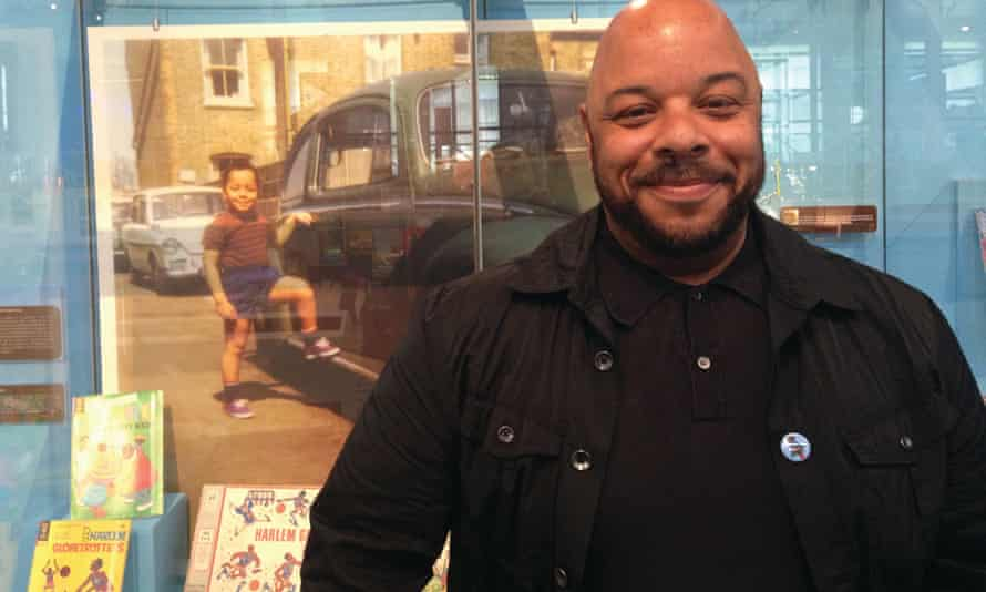 Jon Daniel at his Afro Supa Hero exhibition at the V&A Museum of Childhood in 2013.