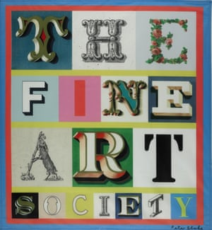 A print of the Fine Art Society flag, designed by Peter Blake in 2012.