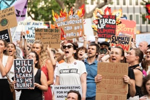 'Will you learn as we burn?' The crowd at the climate action rally in Sydney on Friday