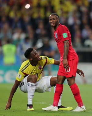 Next up Yerry Mina goes down after suggesting he's been hit by Raheem Sterling. There's nothing in it. This is getting very tetchy though.