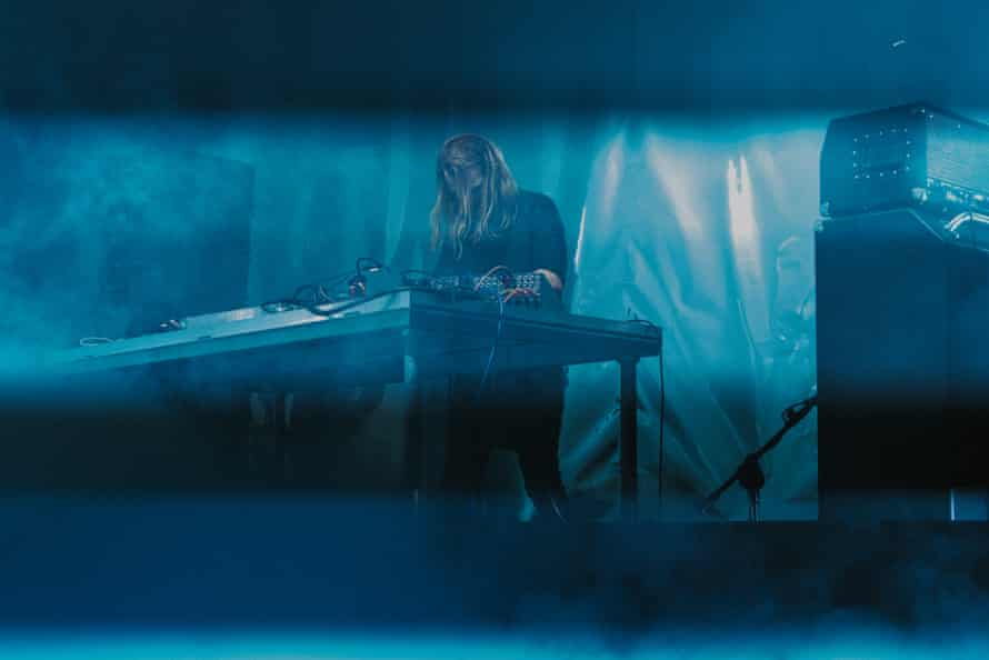 Ben Frost performing at Unsound festival 2017.