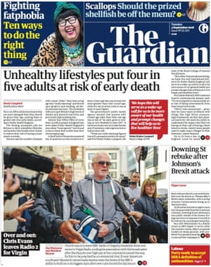 Guardian front page, Tuesday 4 September 2018