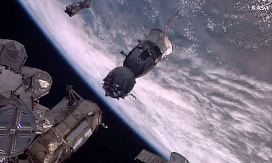 The Soyuz capsule carrying Tim Peake undocks from the International Space Station in June this year.