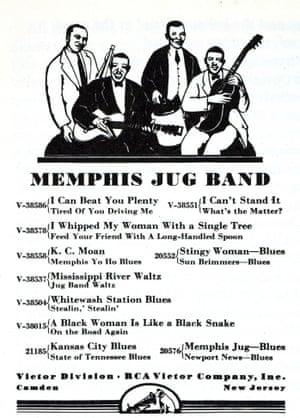 Memphis Jug Band illustration and songlist