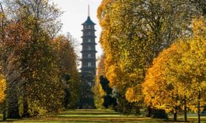 Kew Gardens, Pagoda in autumn