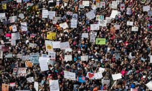 Hundreds of thousands of people attend the March for Our Lives rally in Washington DC Saturday.