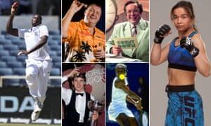Jason Holder, Wayne Mardle, Richard Whiteley, Rosi Sexton, Serena Williams and Stephen Hendry.