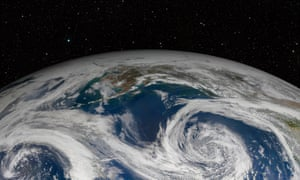 Planet Earth from space.