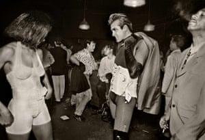 Jon Jon Bubblegum, party animal, and friends South Beach, 1992