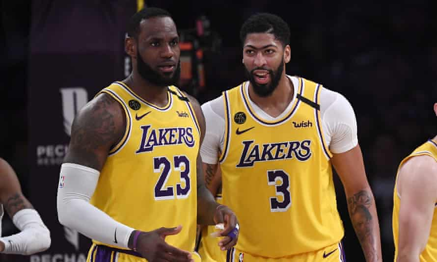 LeBron James and Anthony Davis's LA Lakers are among the favourites to take the NBA title this year