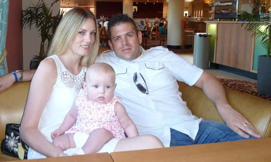 Paul Briggs with his wife Lindsey and daughter Ella