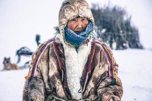 Praskovya is 96 years old and the oldest Nenets grandmother living on the tundra. Her age does not stop her from spending hours outside helping with the herd and cutting firewood. She is also a great storyteller, sharing her stories with the family and passing on words of wisdom