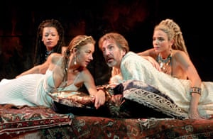 In 1998, she played Cleopatra at the National Theatre opposite Alan Rickman as Antony.