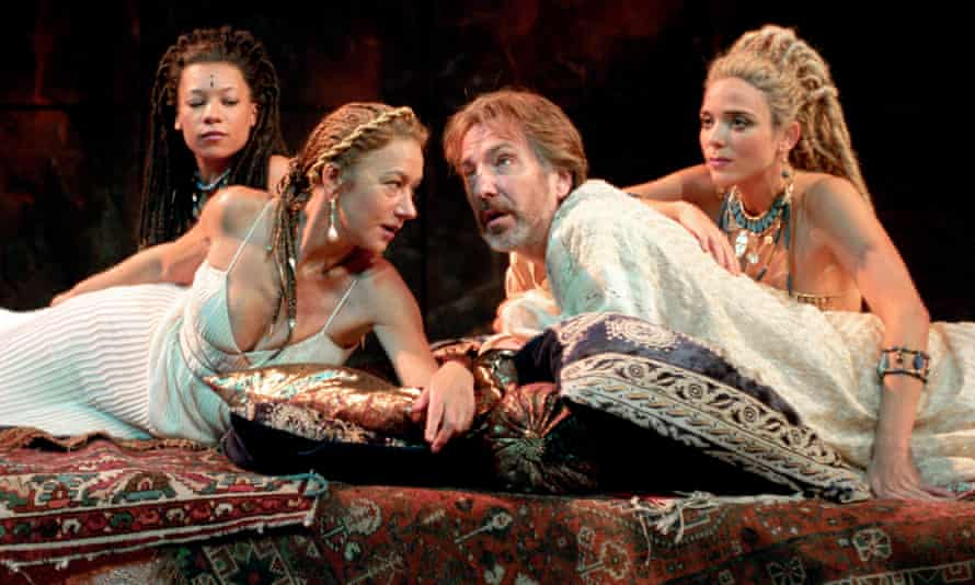 Helen Mirren and Alan Rickman in Antony and Cleopatra at the National Theatre.