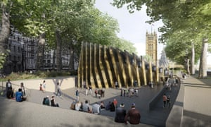An architect's design of the planned Holocaust memorial in Victoria Tower Gardens.
