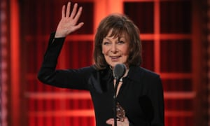Elaine May accepts her Tony award for The Waverly Gallery