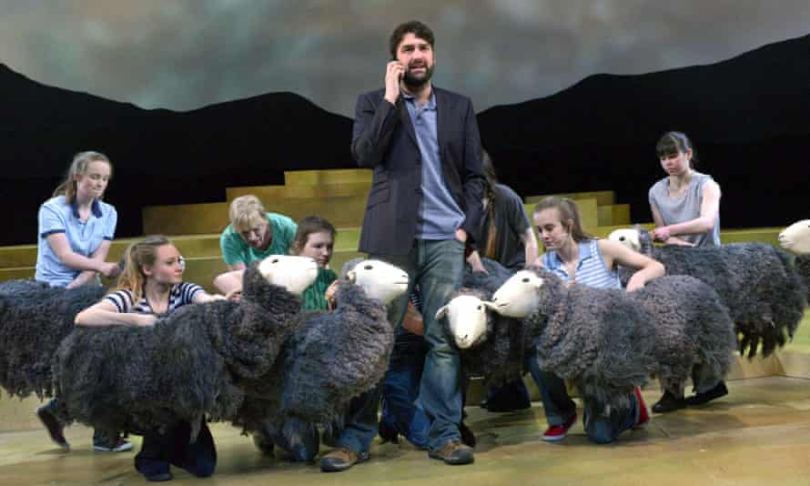 Kieran Hill as James Rebanks in The Shepherds Life at the Theatre By the Lake, Keswick.