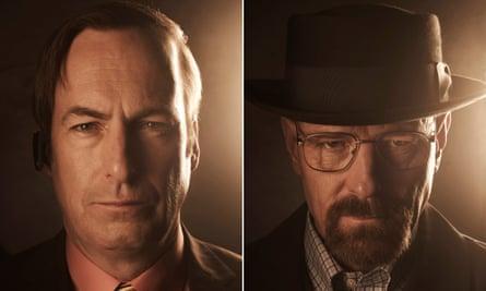 The White stuff: Bob Odenkirk as Saul Goodman (left) and Bryan Cranston as Walter White.