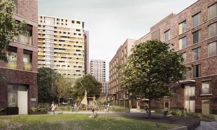 Agar Grove housing development in Camden, London.