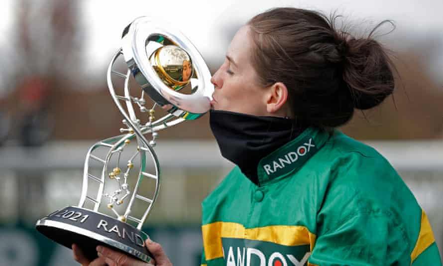 Rachael Blackmore kisses trophy