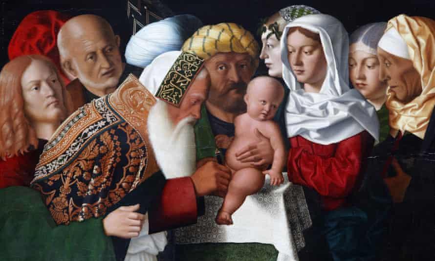The Circumcision by Bartolomeo Veneto, painted in 1506