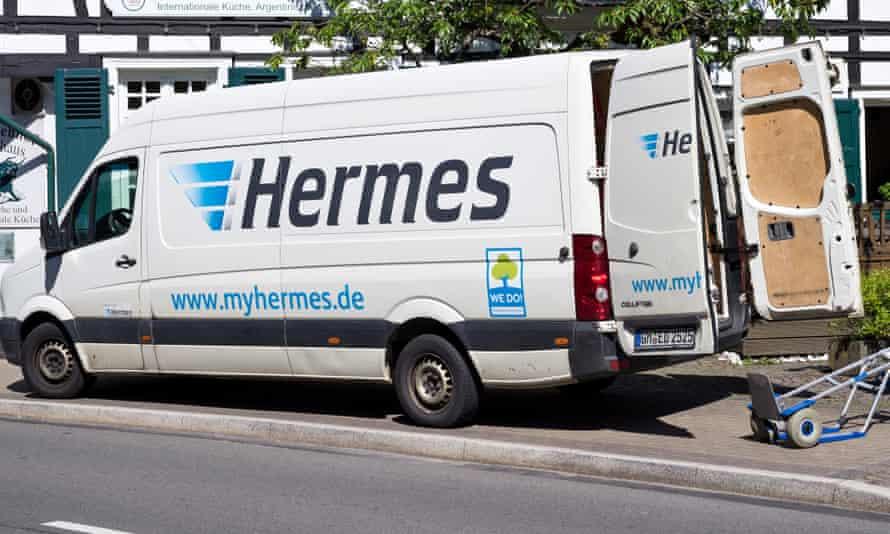 Hermes delivery van.
