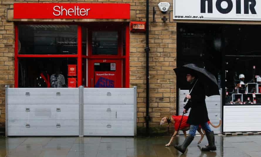 Flood preparations for Storm Christoph, in Hebden Bridge, West Yorkshire.
