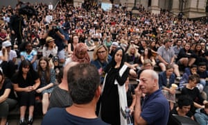 Murdered student Aiia Maasarwe is making her final journey home to Israel. Her father, Saeed Maasarwe, is seen at a vigil on the steps of Parliament House in Melbourne on January 18