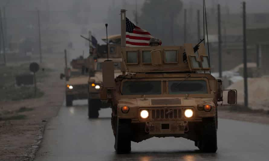 US military vehicles in Syria.