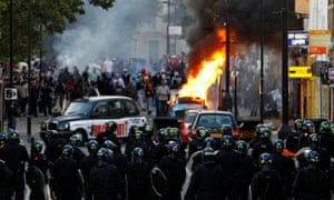 Riots in Hackney, east London in August 2011.