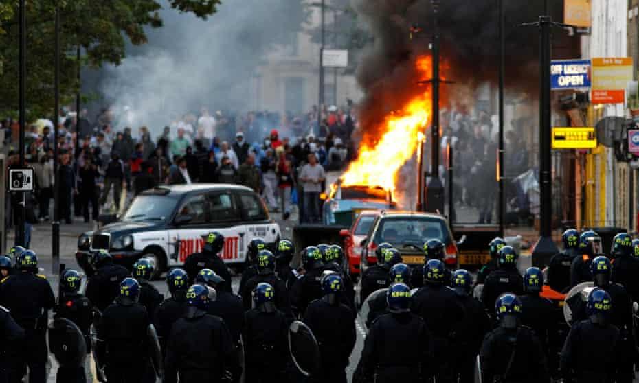 Riots in Hackney, east London in August 2011.