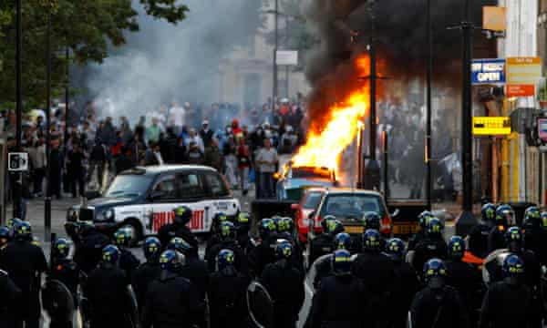 Riots in Hackney, London August 8, 2011.