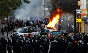 Riots in Hackney, London August 8, 2011.