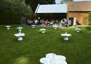 Helen Chadwick's Piss Flowers sculpture.