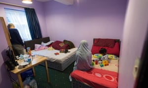 A family at a bed & breakfast in Southall