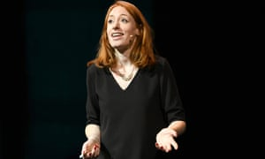 Hannah Fry on stage in New York
