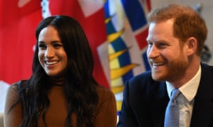 The Duke and Duchess of Sussex during their visit to Canada House.