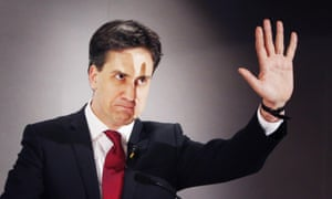 Labour party leader Ed Miliband attends at annual STUC conference at Ayr Racecourse.