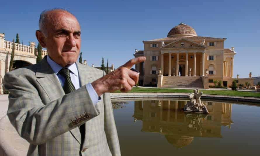 'They left it like a big latrine' … Palestinian millionaire Munib al-Masri in the garden of his house.