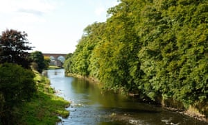 The river Calder at Whalley.