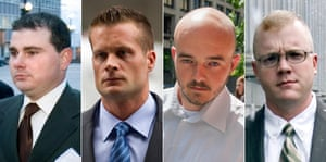 Supporters of four former Blackwater security guards